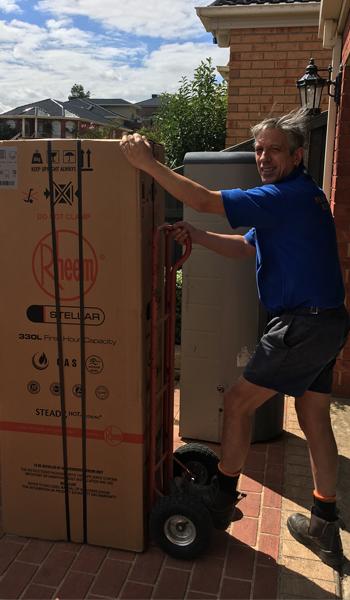 rheem hot water installation melbourne